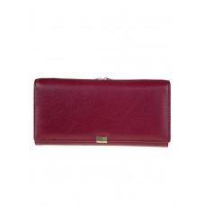 На фото 1 - Женское полноразмерное портмоне из фактурной натуральной кожи, цвет бордовый