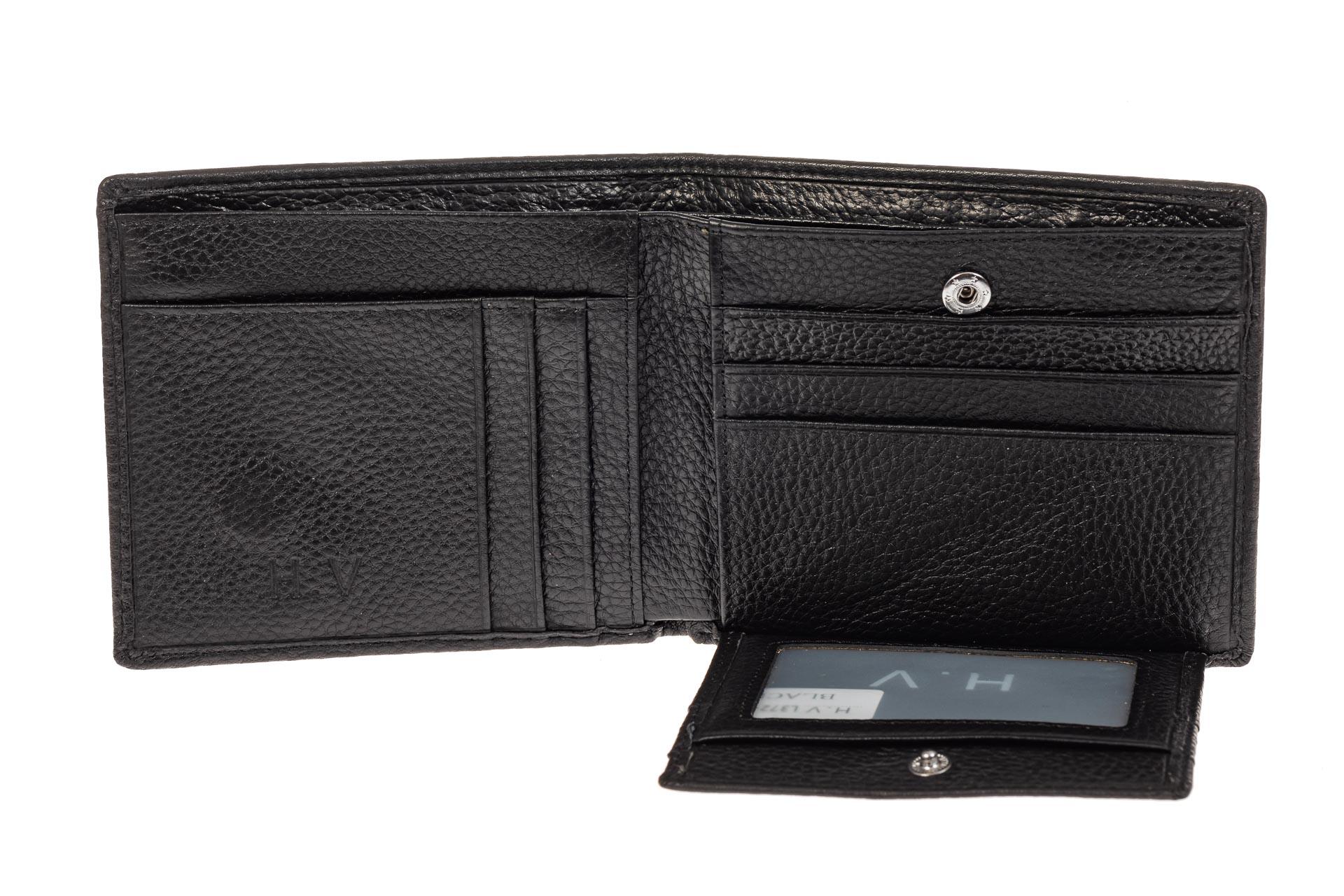 На фото 2 - Мужское портмоне на магните, цвет черный