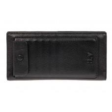 На фото 1 - Мужской кошелек из натуральной кожи, цвет ч...