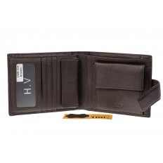 На фото 2 - Мужское портмоне из натуральной кожи, цвет кофе