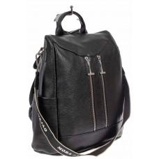На фото 1 - Рюкзак-трансформер из экокожи, цвет чёрный