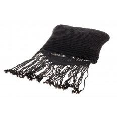 На фото 4 - Плетеная сумка-макраме черного цвета LA-1618