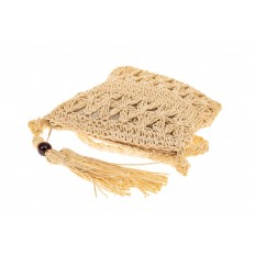 На фото 3 - Плетеная сумочка из мягкого джута, цвет бежевый