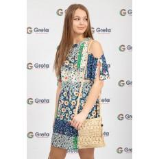 На фото 4 - Плетеная сумочка из мягкого джута, цвет бежевый