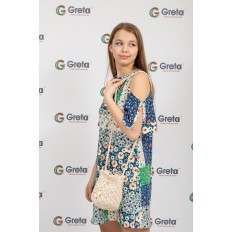 На фото 4 - Плетеная сумочка-торба из джута, цвет бело-бежевый