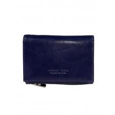 На фото 1 -  Небольшой женский кошелёк из искусственной кожи, цвет синий