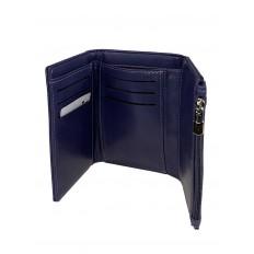 На фото 2 -  Небольшой женский кошелёк из искусственной кожи, цвет синий
