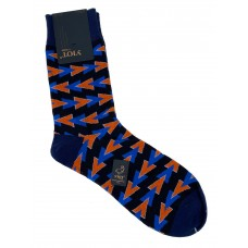 На фото 1 - Антибактериальные мужские носки с принтом, цвет чёрный с синим