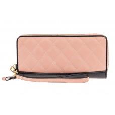 На фото 1 - Стеганый женский кошелек из натуральной кож...