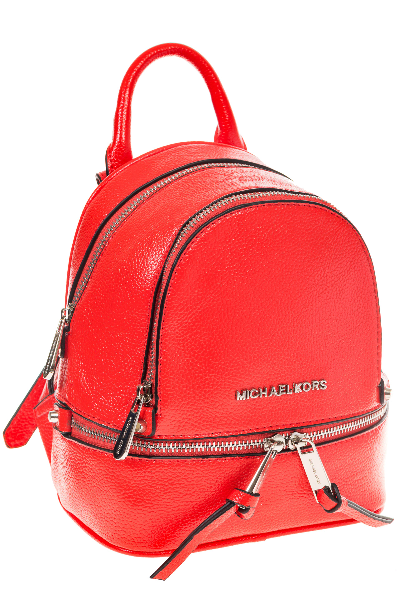 На фото 1 - Красный мини-рюкзачок из эко-кожи M22