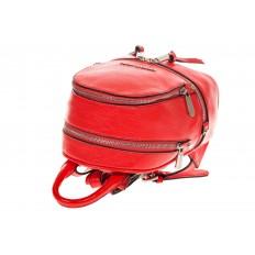 На фото 4 - Красный мини-рюкзачок из эко-кожи M22