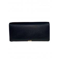 На фото 1 - Полноразмерный кошелёк-портмоне из натуральной кожи, цвет чёрный