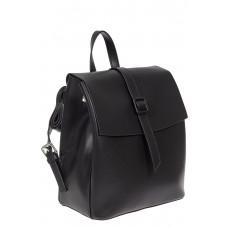 На фото 1 - Женский рюкзачок из натуральной кожи, цвет чёрный