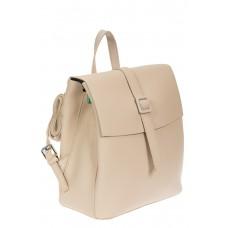 На фото 1 - Женский рюкзачок из натуральной кожи, цвет молочный