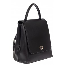 На фото 1 - Рюкзак женский из гладкой натуральной кожи, цвет чёрный