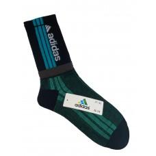 На фото 1 - Спортивные высокие носки с принтом, цвет чёрный