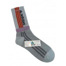 На фото 1 - Спортивные высокие носки с принтом, цвет белый