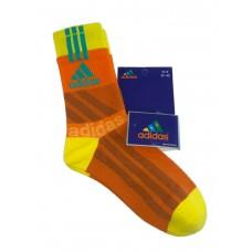 На фото 1 - Высокие спортивные носки c принтом, цвет оранжевый