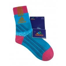 На фото 1 - Высокие спортивные носки c принтом, цвет голубой