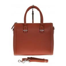 На фото 2 - Рыжая женская сумка из натуральной кожи