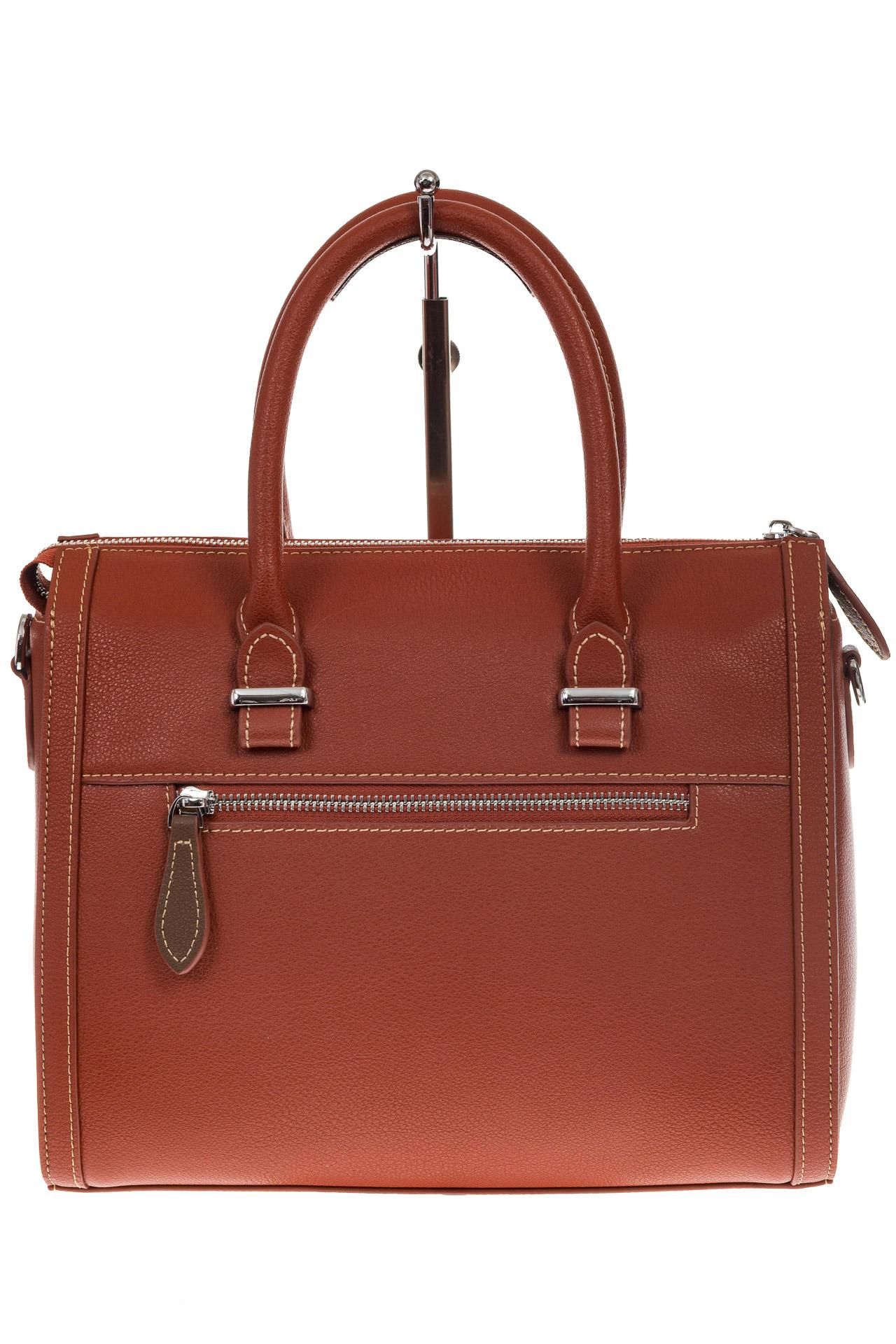На фото 3 - Рыжая женская сумка из натуральной кожи