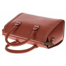На фото 4 - Рыжая женская сумка из натуральной кожи