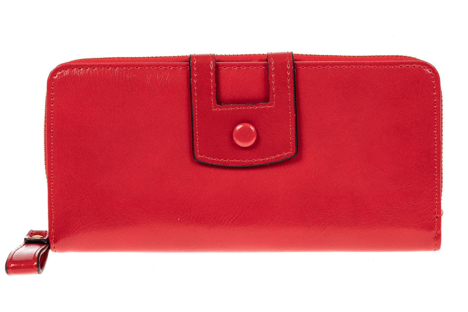 На фото 1 - Женский кошелек из искусственной кожи, цвет красный
