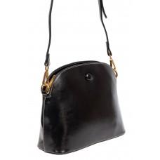 На фото 1 - Маленькая сумка-купол из искусственной кожи, цвет чёрный