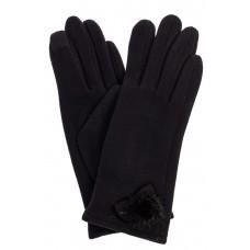 На фото 1 - Классические перчатки женские хлопковые, цвет черный