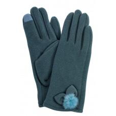 На фото 1 - Классические перчатки женские хлопковые, цвет серо-зеленый