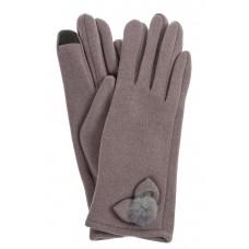 На фото 1 - Классические перчатки женские хлопковые, цвет серый