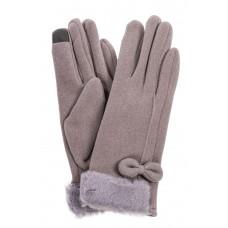 На фото 1 - Элегантные хлопковые перчатки, цвет серый