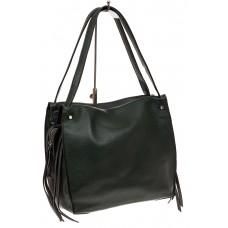 На фото 1 - Тоут сумка из искусственной кожи (экокожи), цвет зеленый