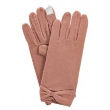 На фото 1 - Классические перчатки женские хлопковые, цвет пудра