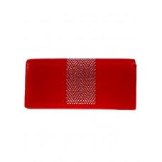 На фото 1 - Женский кошелёк-портмоне со стразами, красный