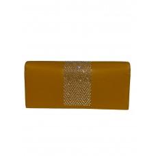 На фото 1 - Кошелёк-портмоне со стразами, цвет жёлто-оранжевый