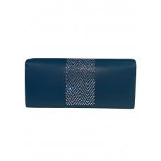 На фото 1 - Кошелёк-портмоне со стразами, цвет голубой