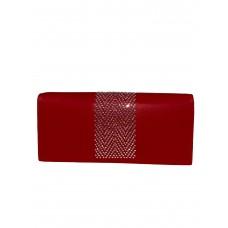 На фото 1 - Кошелёк-портмоне со стразами, цвет красный