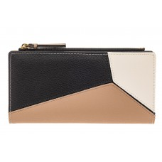 На фото 1 - Женский кошелек из натуральной кожи, цвет ч...