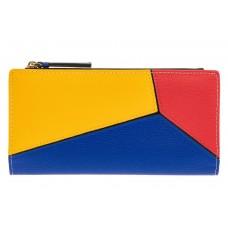 На фото 1 - Женский кошелек из натуральной кожи, цвет ж...