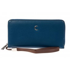 На фото 1 - Женский кошелек из искусственной кожи, цвет синий