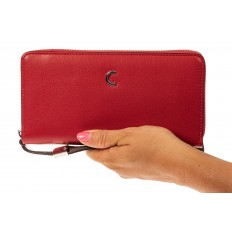 На фото 3 - Женский кошелек из искусственной кожи, цвет красный