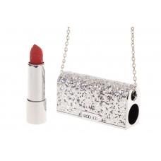 На фото 1 - Губная помада в виде сумочки, цвет серебро, оттенок №200