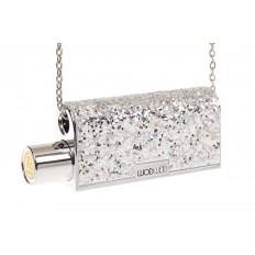 На фото 3 - Губная помада в виде сумочки, цвет серебро, оттенок №200