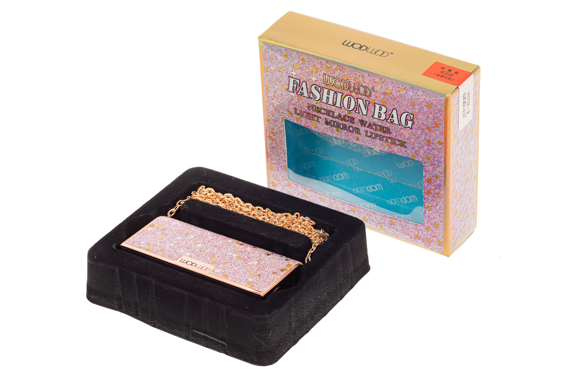 На фото 2 - Губная помада в виде сумочки, цвет розовый, оттенок №405
