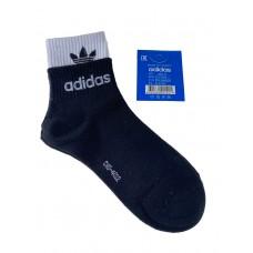 На фото 1 - Женские спортивные носки с манжетами, цвет чёрный с белым