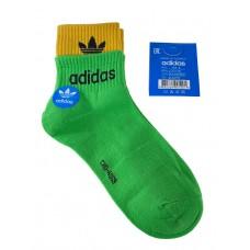 На фото 1 - Женские спортивные носки с манжетами, цвет зелёный с жёлтым