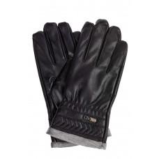 На фото 1 - Перчатки мужские под кожу, цвет черный