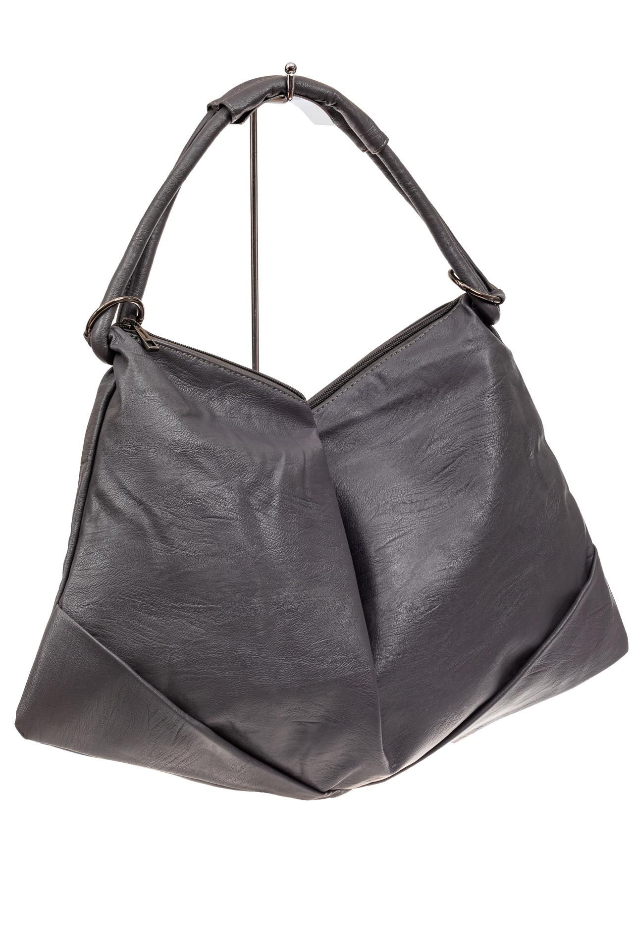 Большая женская сумка из искусственной кожи, цвет серыйX206PU1019/11