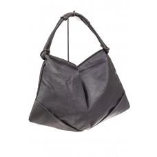 На фото 1 - Большая женская сумка из искусственной кожи, цвет серый